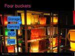 four buckets