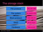 the storage stack