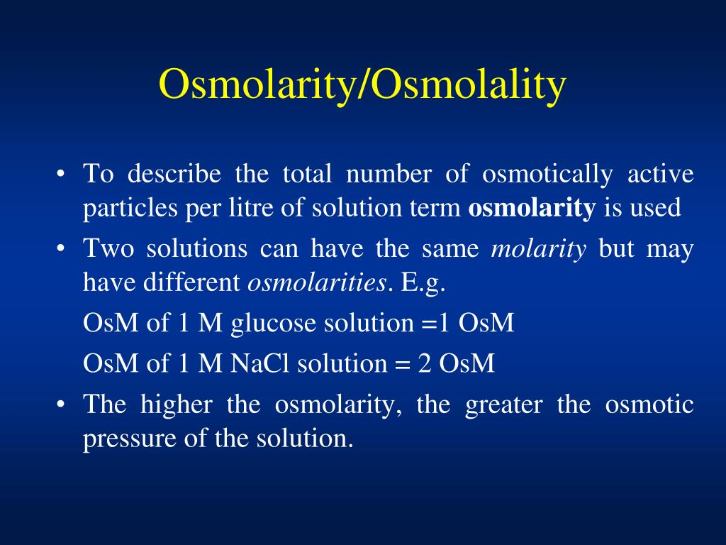 PPT - Diffusion, Osmosis and Osmotic Pressure PowerPoint