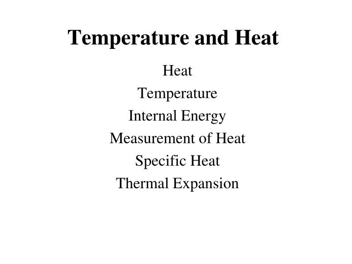 temperature and heat n.