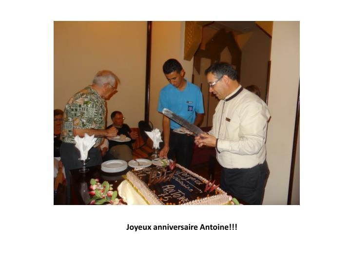 Joyeux anniversaire Antoine!!!