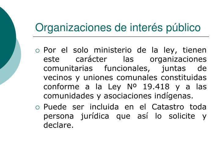 Organizaciones de interés público