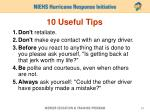10 useful tips