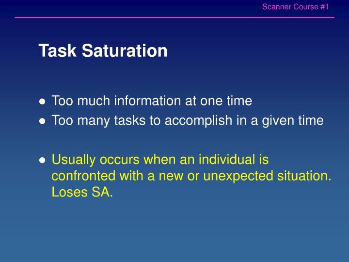 Task Saturation
