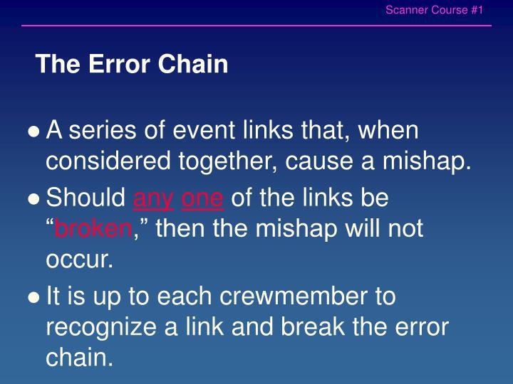 The Error Chain