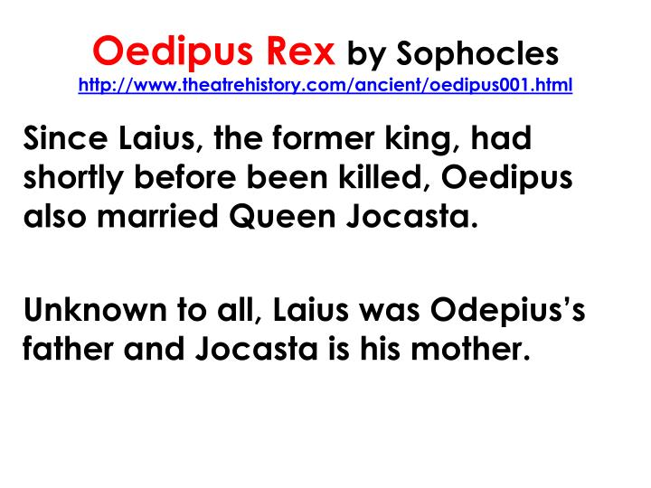 oedipus rex by sophocles as a tragedy Oedipus rex pdf summary by sophocles is a classical tragedy about the power of fate and the inability to escape it, no matter one's attempts to fight and escape the path that was meant for him.