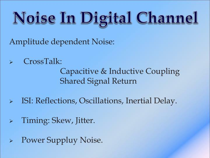 Noise In Digital Channel