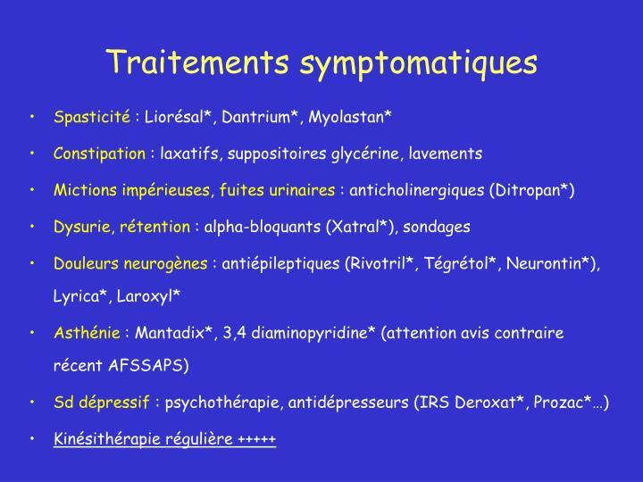 Traitements symptomatiques