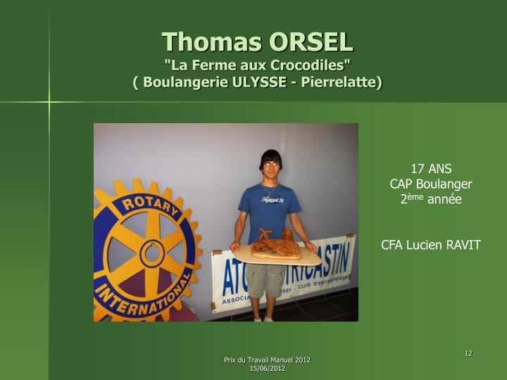 Thomas ORSEL