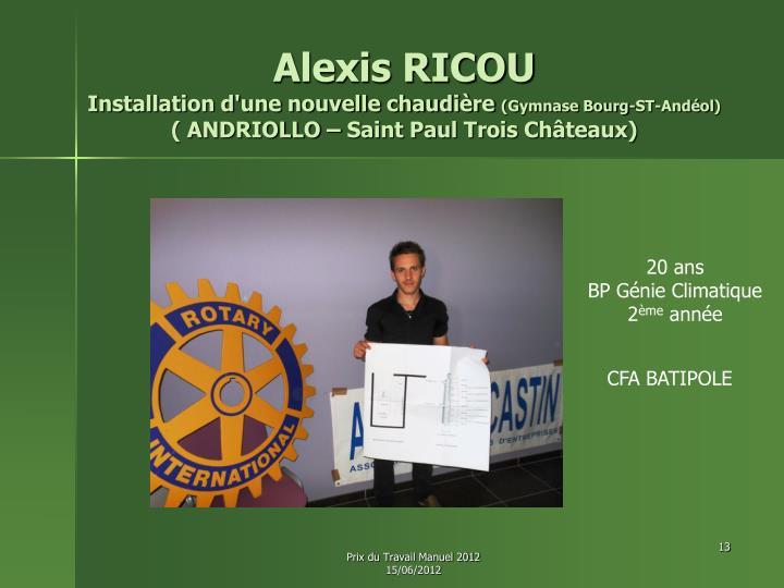Alexis RICOU