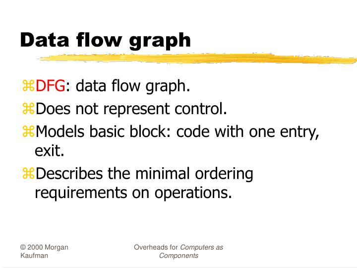 Data flow graph