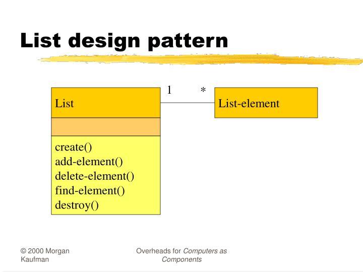 List design pattern