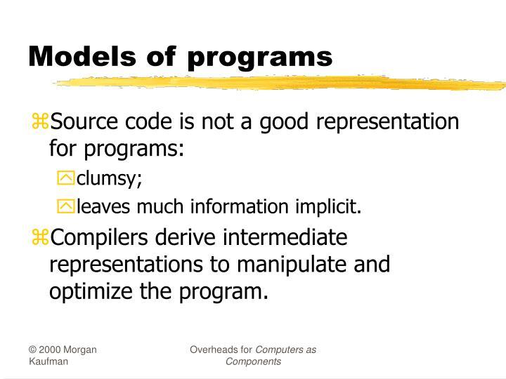 Models of programs