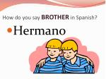 how do you say brother in spanish