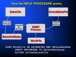 how the input procedure works