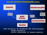 how the output procedure works