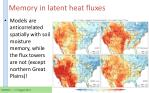 memory in latent heat fluxes