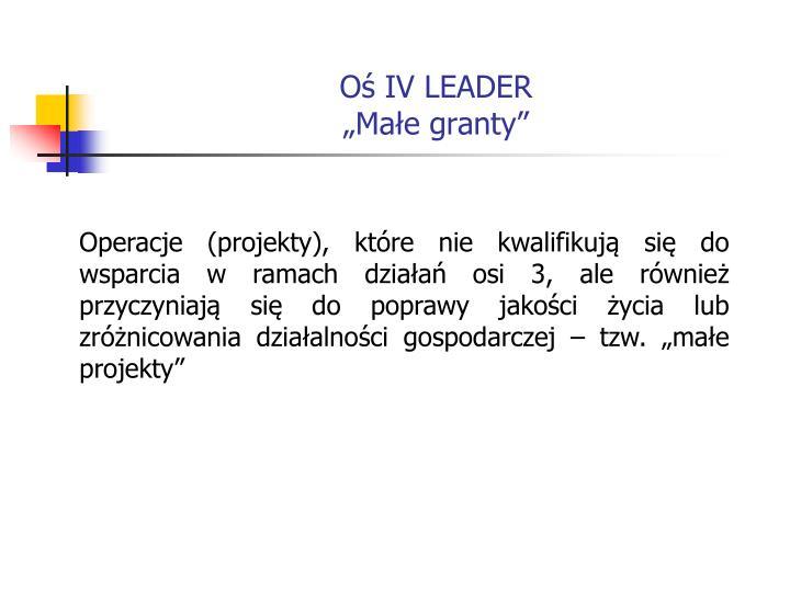 O iv leader ma e granty