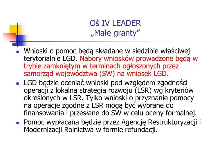 Oś IV LEADER
