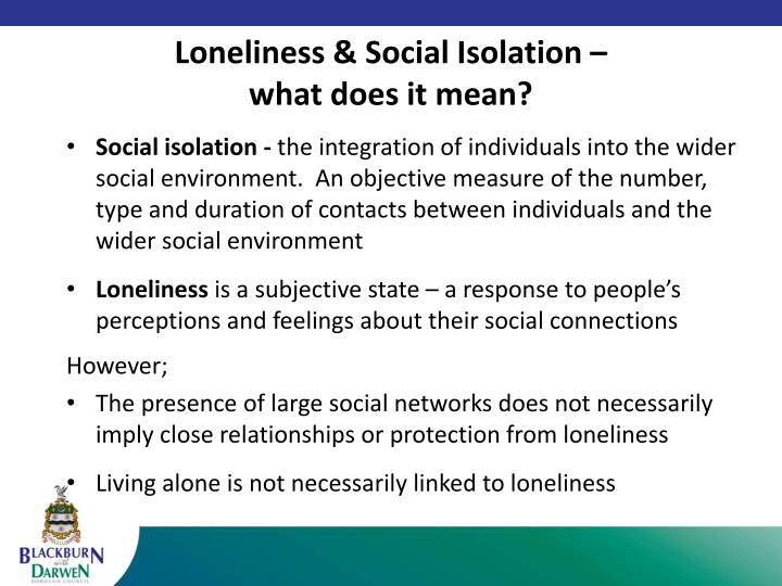 Loneliness social isolation what does it mean