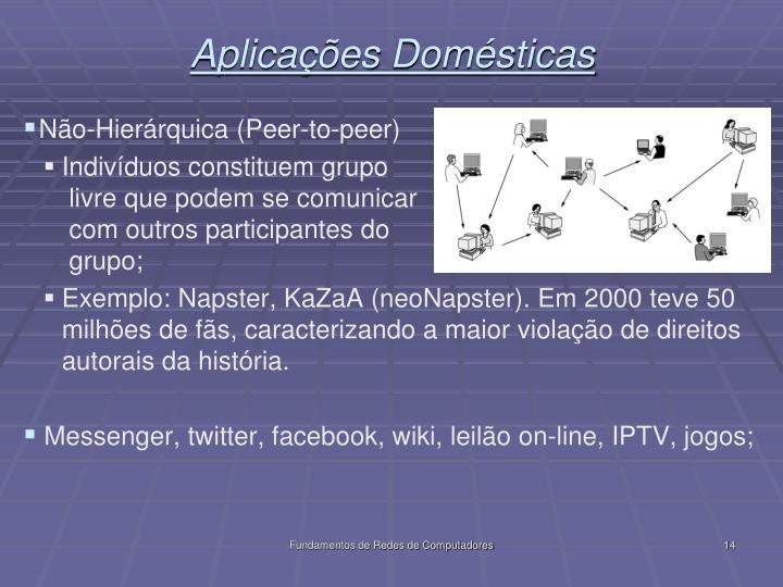 Aplicações Domésticas