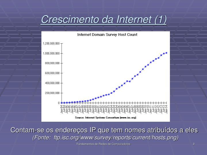 Crescimento da internet 1