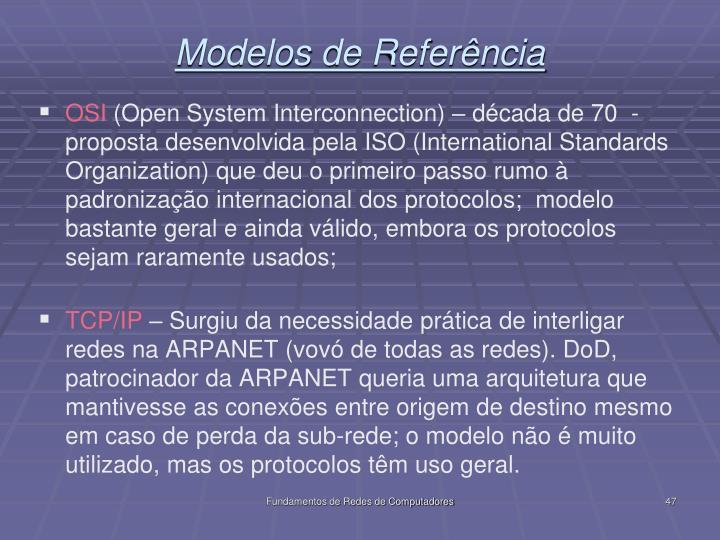 Modelos de Referência