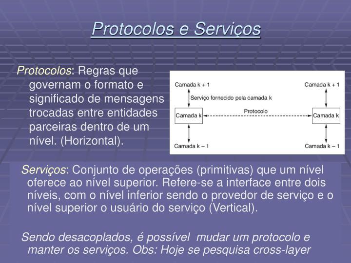 Protocolos e Serviços