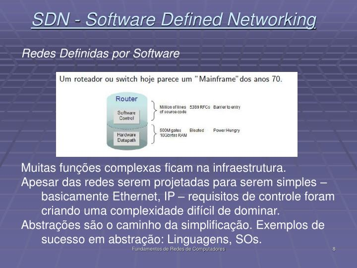 SDN - Software