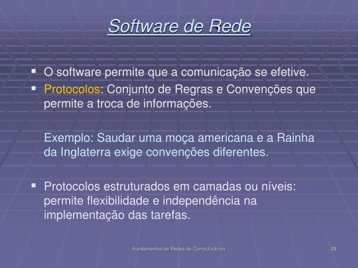 Software de Rede