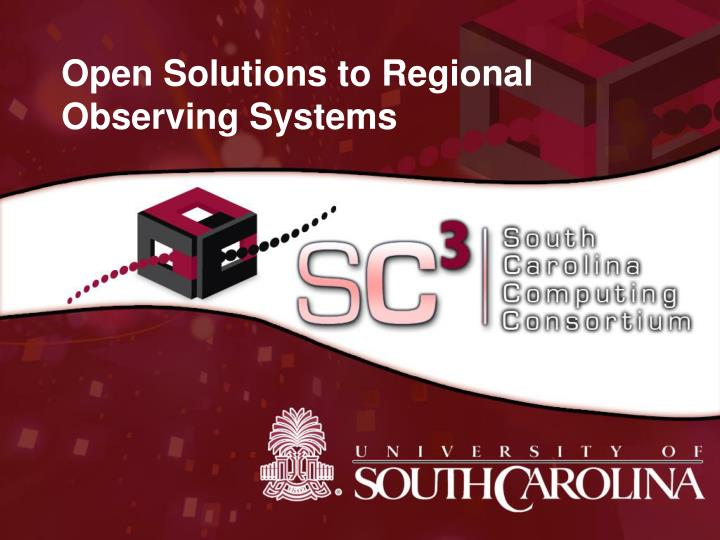 open solutions to regional observing systems n.