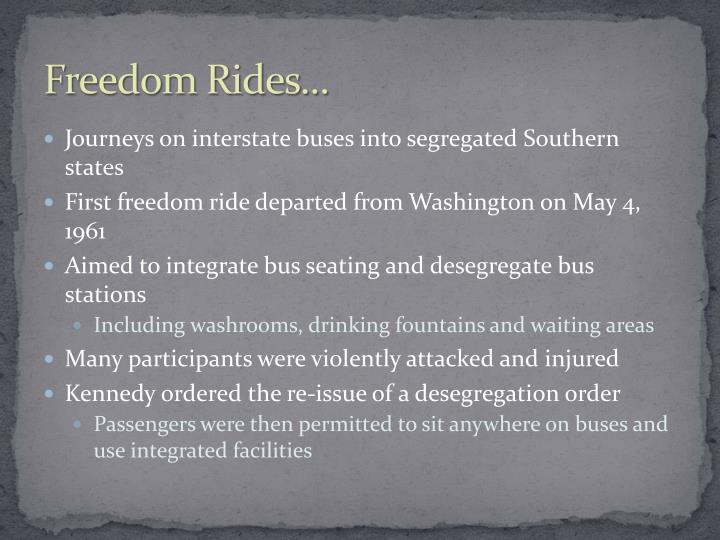 Freedom Rides...