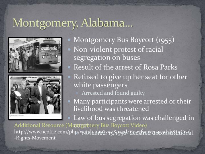 Montgomery, Alabama...