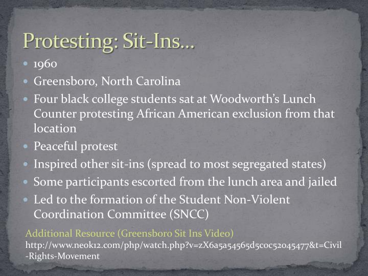 Protesting: Sit-Ins...