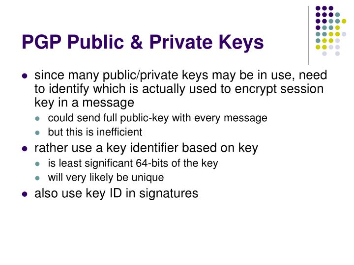 PGP Public & Private Keys