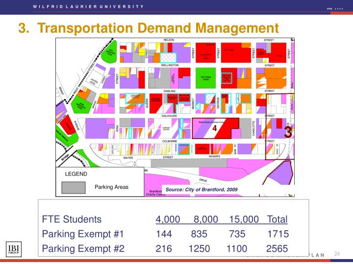 3.  Transportation Demand Management