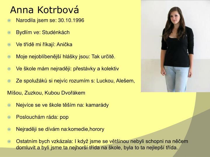 Anna Kotrbová