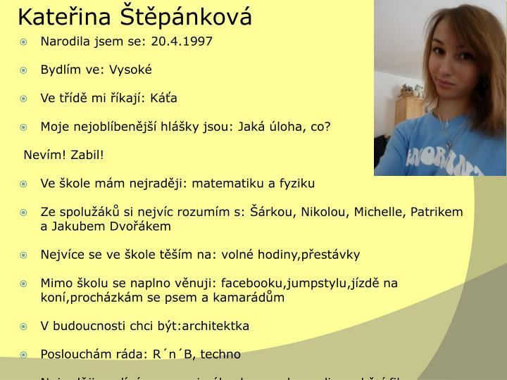 Kateřina Štěpánková