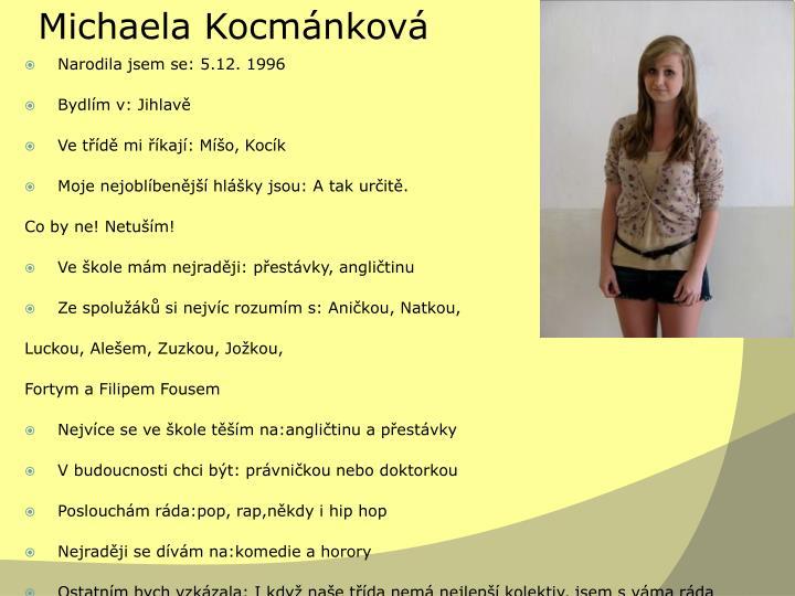 Michaela Kocmánková