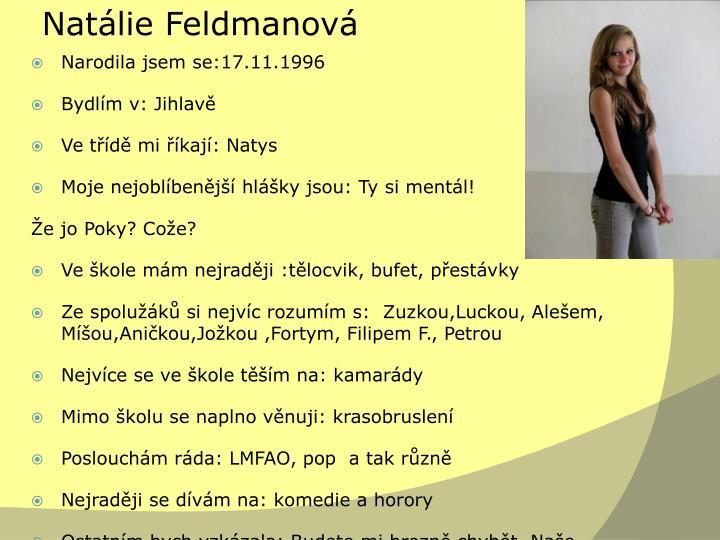 Natálie Feldmanová