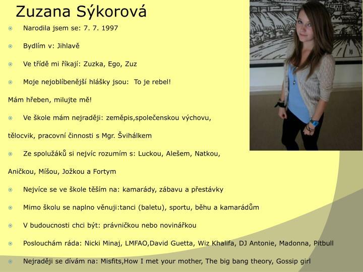 Zuzana Sýkorová