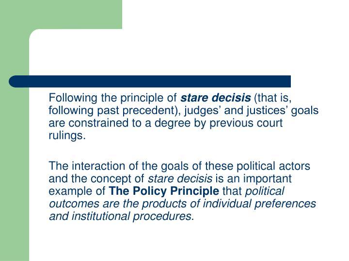Following the principle of