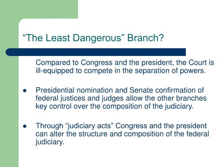 """The Least Dangerous"" Branch?"