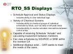 rto ss displays
