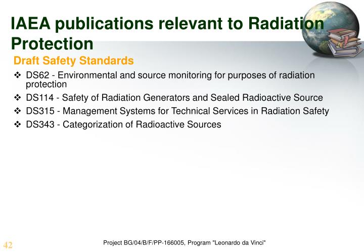 IAEA publications relevant to Radiation Protection
