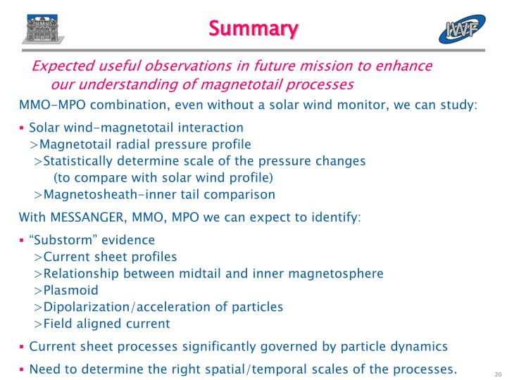 Expected useful observations in future mission to enhance