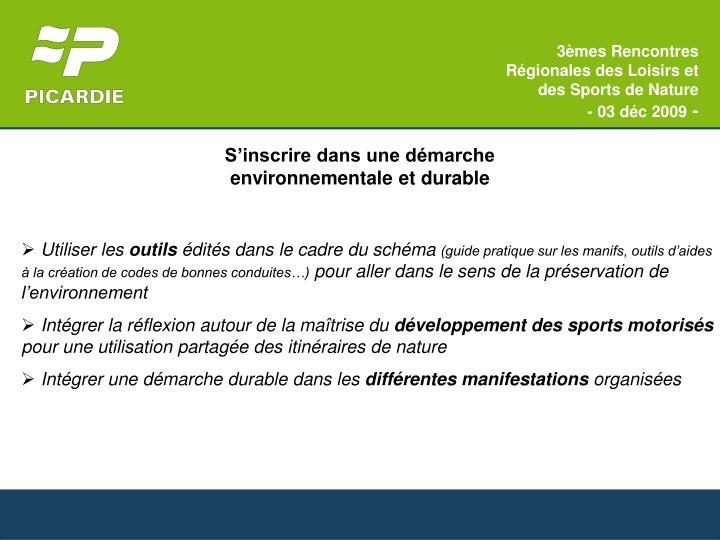 3èmes Rencontres Régionales des Loisirs et des Sports de Nature