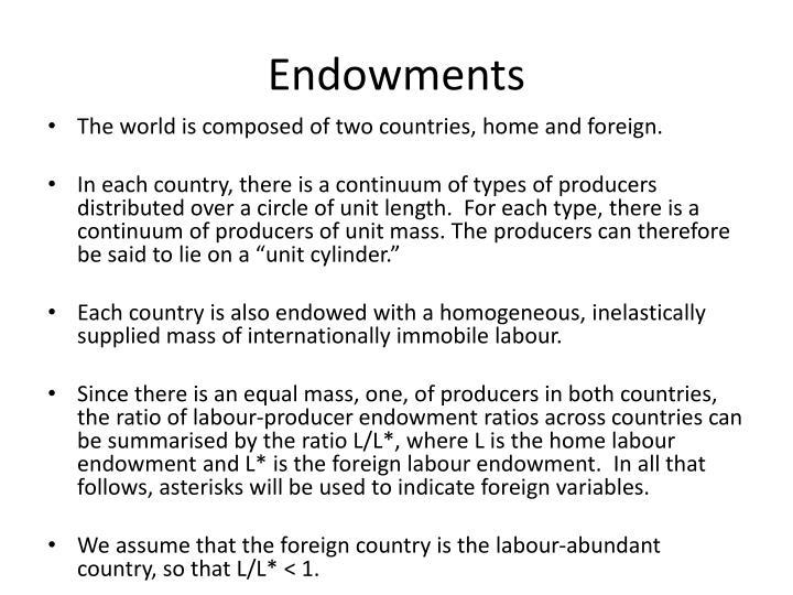Endowments