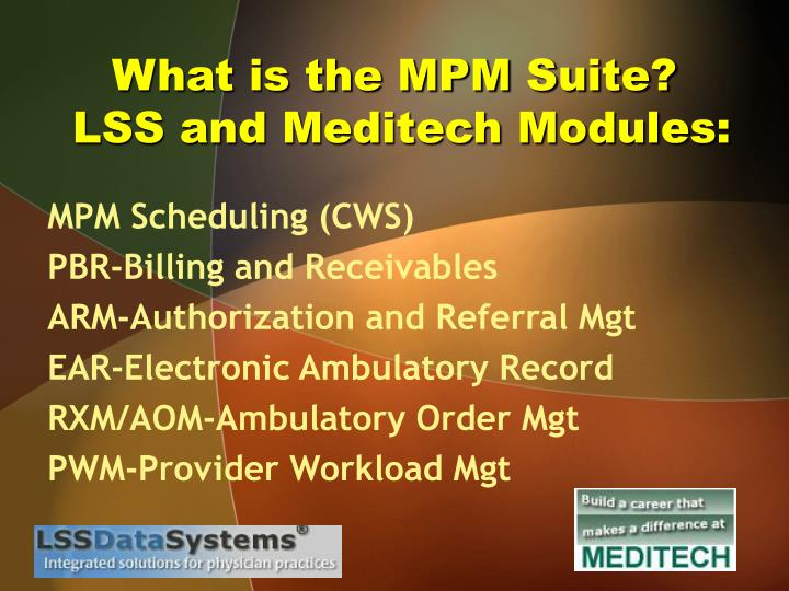 What is the MPM Suite?