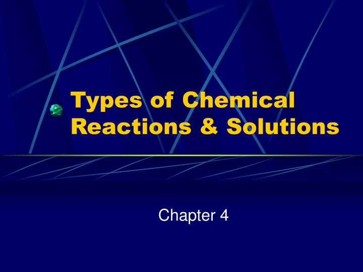 types of chemical reactions solutions n.